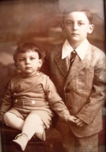 Norman Gardner with his big brother Bobby